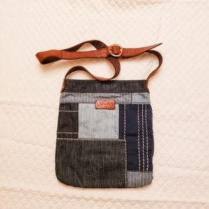 Lucky Brand Patchwork Denim Cross Body Bag